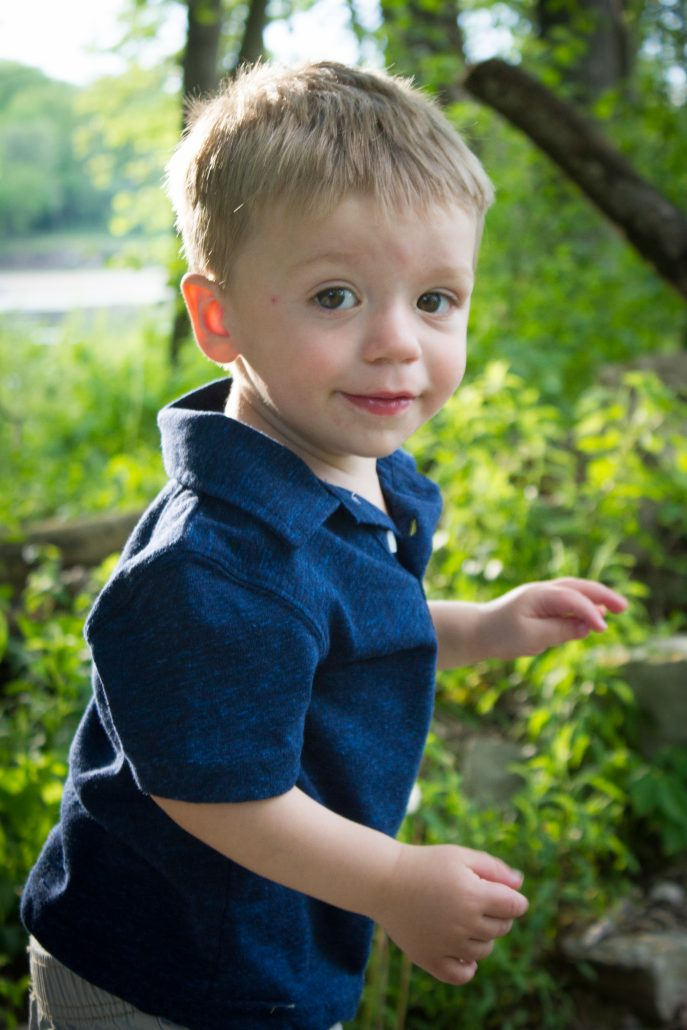 One year old Logan at Menomonee Park