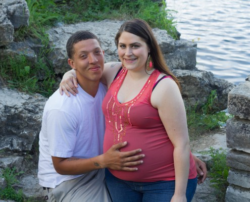 Maternity Photography - Couple by the Water
