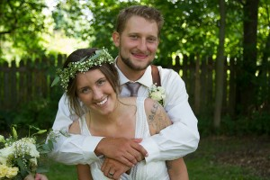 Groom Gives Bride Bear Hug