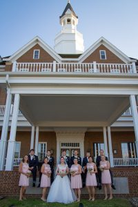 Delafield Hotel Bridal Party Outside